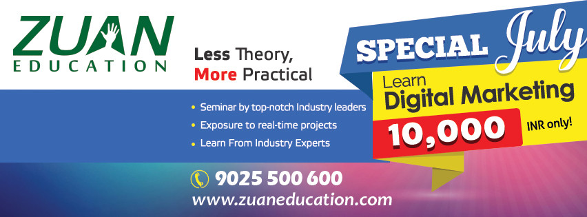 Special July Offer for Digital Marketing Course at Zuan Education